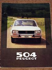 1980 PEUGEOT 504 SALOON, ESTATE & FAMILY ESTATE Brochure