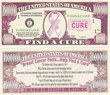 Find A Cure Breast Cancer Rememberance Money Bill #221
