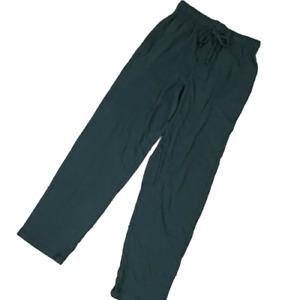 FRUIT of the LOOM Men's black polyester sleep PANTS long pajama Lounge Wear
