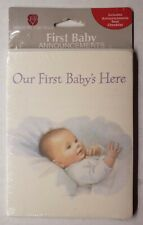 American Greetings First Baby Announcements Baby's Here 8 Cards & Envelopes