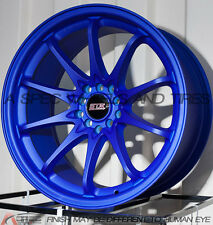 18X9 STR 518 5X112/114.3 RIM +30MM BLUE WHEEL FITS ACURA RSX 2002-2006