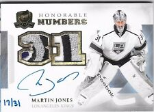 2013-14 UD THE CUP HONORABLE NUMBERS MARTIN JONES AUTO PATCH RC /31