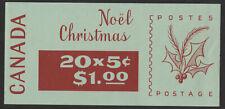 Canada 1968 SB65 (no phosphor) $1 Christmas QEII Booklet  #M056
