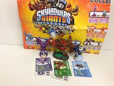 Skylanders Giants Tree Rex, Cynder & Jet-Vac figures+cards+codes+Poster