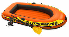Intex Explorer Pro 300 Inflatable 3 Person Boat With Oars & Pump Ty2030