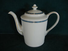 "Bernardaud Limoges France Gemmes Bleu 7 1/4"" Coffee Pot and Lid"