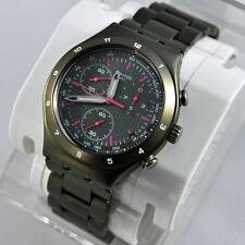 swatch irony chrono green coat ycm4002ag raro orologio cronografo verde militare