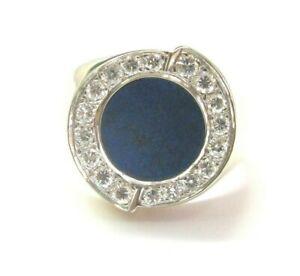 Lapiz & Diamond Ring 14Kt Yellow Gold .54Ct F-VS2