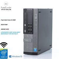 DELL Optiplex 9020 Desktop/SFF Computer i5 4th 3.3 WiFi 500GB 8GB Windows 10 Pro