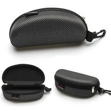 Zipper Eye Glasses Sunglasses Hard Case Box Protector Black Large Hold Prof