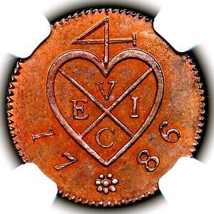 1786 Netherlands East Indies India Company Sumatra Proof 1 Keping 1K NGC PF65 BN
