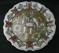 Großer Erhart Schiavon Keramik Wandteller flache Schale Vintage italy pottery