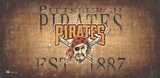 "Pittsburgh Pirates Throwback Retro Heritage Est 1887 Wood Sign 12"" x 6"" Decor"