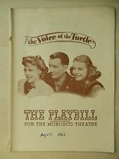 April 1945 - Morosco Theatre Playbill - The Voice Of The Turtle - Elliott Nugent