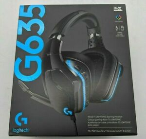 New Logitech G635 Wired 7.1 LIGHTSYNC Gaming Headset -DS3912