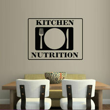 Wall Decal Kitchen Cook Food Spoon Fork Plate Cafe Inscription Nutrition M705