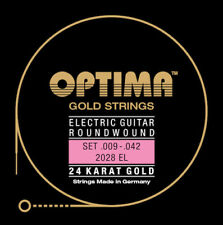 Optima 24K Gold Electric Guitar Strings gauges 10-46