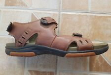 MENS CLARKS UNSTRUCTURED BROWN LEATHER SANDALS UK SIZE 8 G /EU SIZE 42