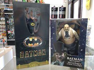 NECA Batman & Batman Returns 1/4 Scale Batman & Mayoral Penguin Sealed Lot!!!