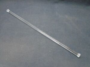 "Laboratory Glass 12"" Polished Stir Shaft Rod Nailhead Style Both Ends 8mm OD"