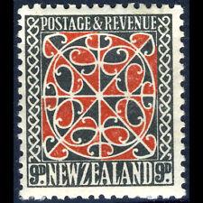 NUOVA Zelanda 1936-42 9d PANNELLO Maori. PERF 13.5 x 14. SG 587b. MLH. (BH037)