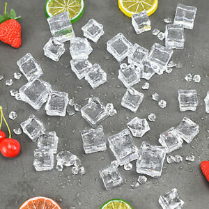 Acrylic Clear Fake Crushed Ice Rocks Diamonds Artificial Ice Cube Props Decor 1