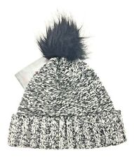 SPYDER Women's Gray/Black Knitted Beanie Hat One Size New with Tags