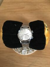 Vintage Stainless Steel 17 Jewels Vulcain Alarm Incabloc Wrist Watch