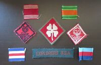 Vintage Ribbons & Patches Lot of (8) Pieces Military / Wolf, Cub & Lion Scouts