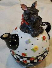 Mary Engelbreit Tea Pot 3pc Stackable Set w/ Scotty Dog Lid 2002