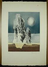 Estampe originale signée signature à déterminer 1968 11/40 art abstrait abstract