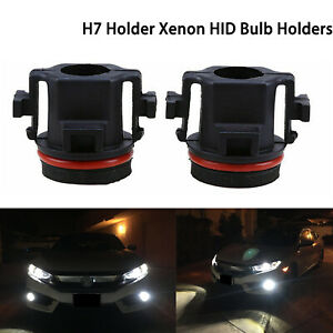 2pcs H7 Xenon HID Bulbs Adapters Retainer Holder For 1997-2003 BMW E39 5 Series