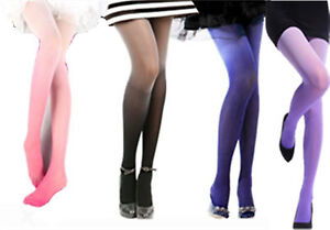 Women Lolita Fashion Sexy 30D Ombre Water color Velvet Gradient Tights Pantyhose