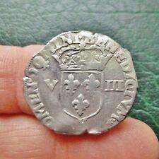 Henri IV - 1/8 Ecu, Croix feuillue de face - Date indéterminée - Montpellier
