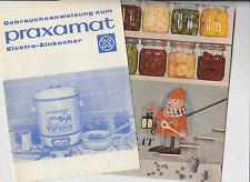 Konvolut Praxamat Elektro-Einkocher  Vorrat ohne Mühe usw. Herzog Xanten 1960er