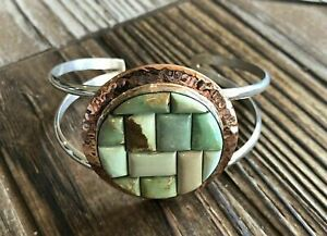 JAY KING Arizona Queens Valley Turquoise Cuff Bracelet, Sterling Silver & Copper