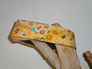 Bees & Daisies 2 Inch Custom Made Martingale Dog Collar