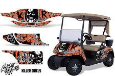 EZ GO Golf Cart Wrap Graphics Vinyl Sticker Decal Kit EZGO 1996-2010 CIRCUS ORNG