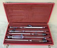 Boxed Set 5 Vintage Hydrometers~Densimetre~Alcoometre~
