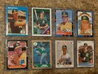 (8) Mark McGwire 1987 Donruss Fleer Topps Rookie Card Lot RC 1988 1989 Upper