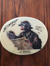 The Emmett Kelly Jr Collection Wood Wall Plaque Signed