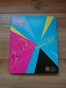 2012 London Olympics 50p coin set All 29 Sports plus completer medallion.