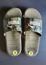 Puma Cool Cat Camo Men's Slides Size 9 Olive & White Slippers Sandals NWOT