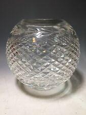 Waterford Crystal Glass Rose Bowl Vase Glandore