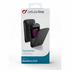 Custodia in ecopelle FLAP ESSENTIAL Black per BlackBerry Q10 Cellularline Nuova
