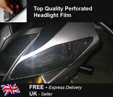 Motorbike Headlight Tail Light Perforated Cover Protector Vinyl Mesh Tint Bike