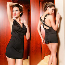 Neu Sexy Dress Minikleid Gogo Clubwear Schwarz Party Kleid 34 36 38