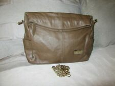 Louis Sacred Horse Taupe leather shoulder bag clutch. Gorgeous condition REDUCED