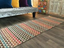 Second Nature Online Karal Multicolour Stripe GoodWeave Cotton Small Rug Runner