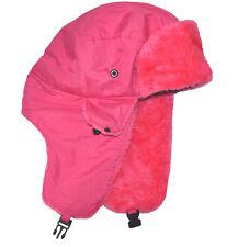SW Men's Trapper Russian Winter Hat Neon Pink